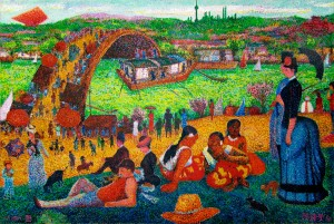(M)#50中国馆(清明上海游)China Pavilion(Qingming Festival in Shanghai)130X194cm