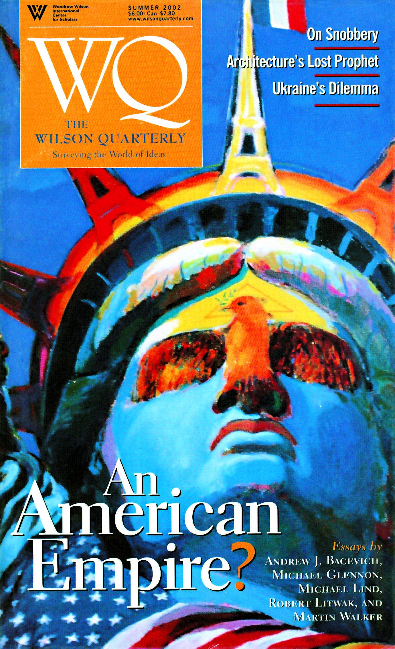 在這裡,陳博士的「自由的精神」一作被 美國威爾森季刊(Wilson Quarterly)用作 封面。那是在觀念理論方面相當具權威的 有名刊物。